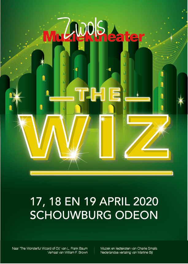 Poster The Wiz met alle informatie